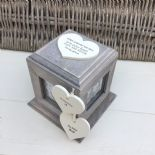 Shabby Chic In Memory Of A Sister Rustic Wood Style Personalised Photo Cube Box - 332868741626